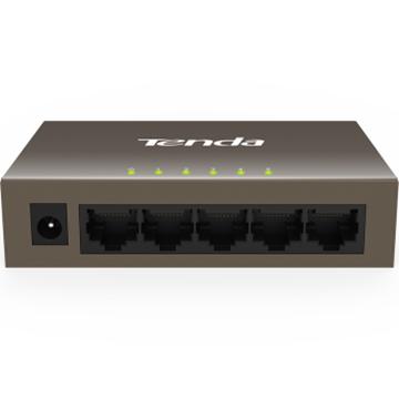 图片 腾达(Tenda)TEF1005D 5口百兆铁壳网络交换机 4口监控工程 家用宿舍专用分线器