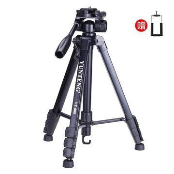 图片 云腾(YUNTENG) VT-888 精品便携三脚架云台套装 微单数码单反相机摄像机旅行用 优质铝合金超轻三角架黑色