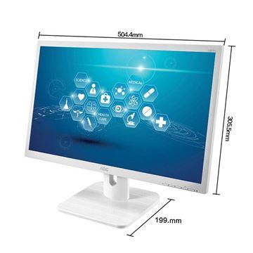 图片 AOC 22E1H/WW 商用专业显示器 三年头等舱VIP服务 21.5英寸全高清 低蓝光不闪屏 21.5英寸白色/低蓝光不闪/HDMI版
